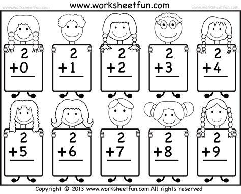 beginner addition basic addition facts 9 kindergarten