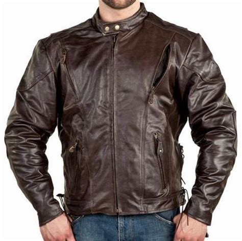 brown leather motorcycle jacket mens vented brown leather motorcycle jacket z o lining
