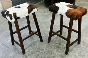 Cow Hide Barstools Cleveland by Copley Upholstery, Inc
