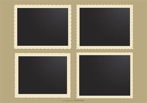 Raster graphics get blurry as zoom level increases or screen size changes. Photo Frames With Retro Edges Vector - Download Free ...