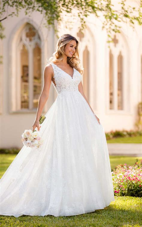 Boho Wedding Dress With Floral Lace Stella York Wedding