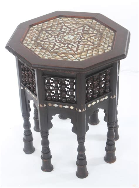 mother of pearl table l early mother of pearl inlaid islamic table 237855