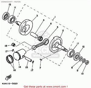 Yamaha Pw50 1986  G  Usa Crankshaft - Piston