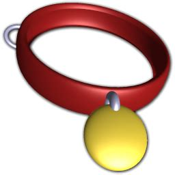 red pet collar icon png clipart image iconbugcom