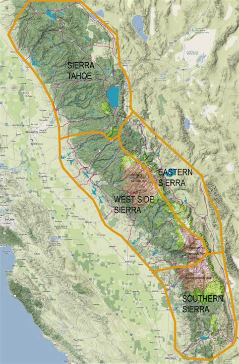 sierra regional map