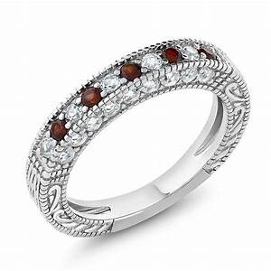 100 Ct Garnet And White Created Sapphire 925 Sterling