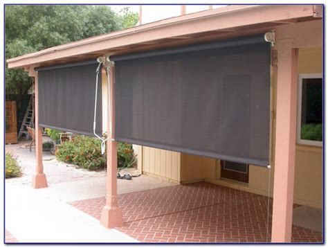 roll shades for patio roll up patio cover crunchymustard