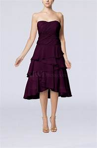 plum romantic a line sleeveless backless chiffon ruching With plum dress for wedding guest
