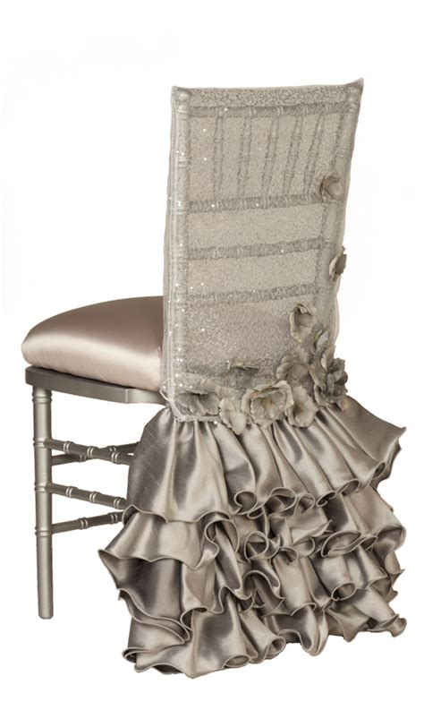 obsessed with this silver and grey ruffled and sparkly
