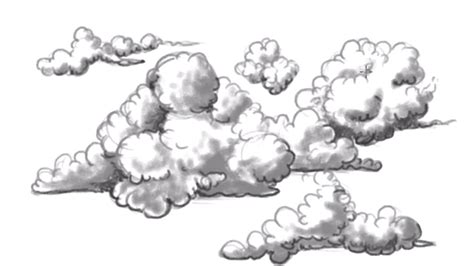draw clouds easy clouds  draw mat youtube