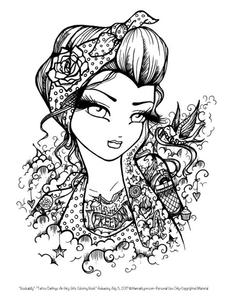 Tattoo Darlings: An Inky Girls Coloring Book -AUTOGRAPHED