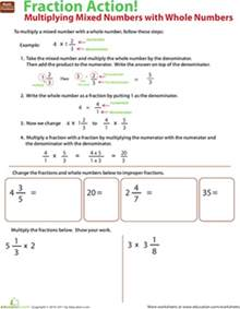 multiplying and dividing fractions by whole numbers multiply mixed numbers with whole numbers worksheet education