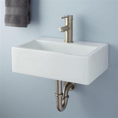 Halley Rectangular Porcelain Wallmount Sink Bathroom