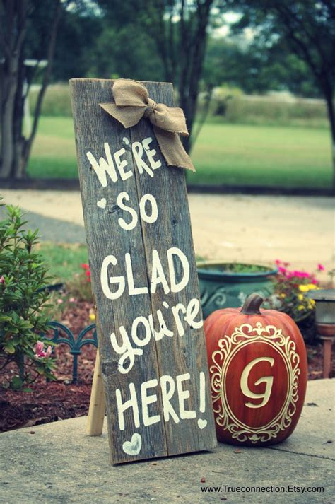 standing fall porch sign  sign home   glad
