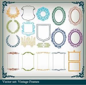 Various Vector frame set 02 - Vector Frames & Borders free ...
