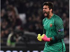 Alisson Becker of Roma during the Europa League match