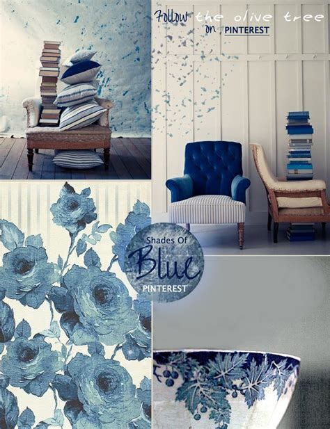 shades  blue mood board   olive tree inspiration