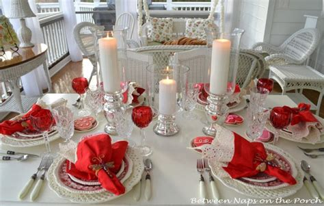 valentines day tablescapes table settings