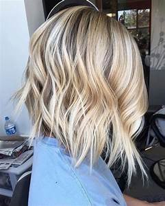 Coiffure Blonde Mi Long : carr plongeant blond la t te la premi re obsigen ~ Melissatoandfro.com Idées de Décoration