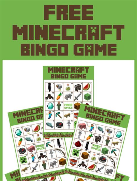 minecraft printables psd png vector eps