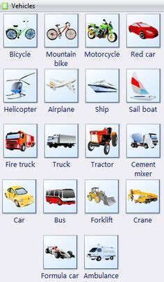 CPI Tino Grandío Bilingual Sections: Types of vehicules