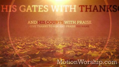 vintage thanksgiving scripture psalm  loop  motion