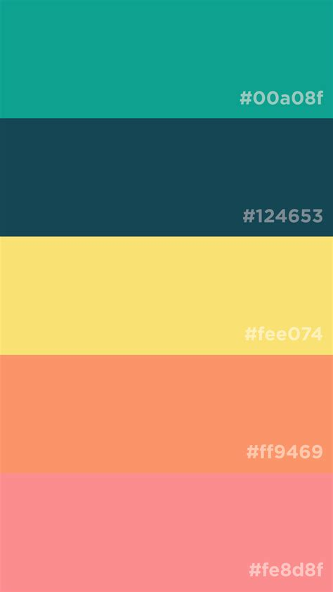 Palette Yellow by Teal Yellow Coral Color Palette Moodboards Color