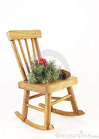 wooden rocking chair with decorations royalty