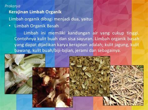 contoh kerajinan limbah organik anorganik