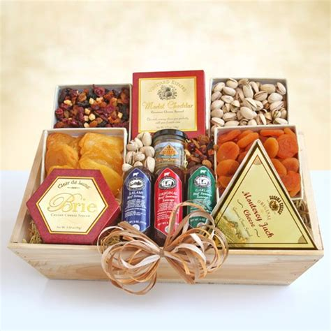 meat cheese nuts gourmet gift crate  amerigiftbasketscom