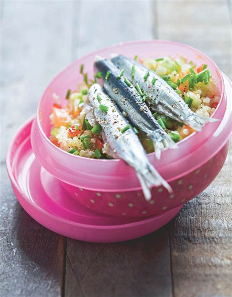 recette sardines marinees  taboule de quinoa marie claire