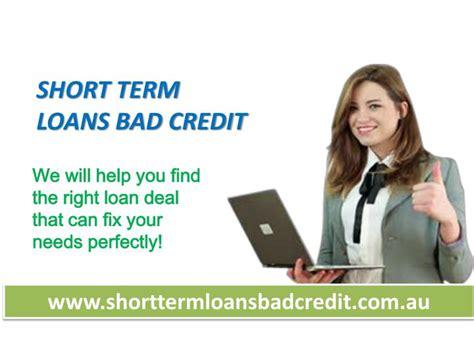 Short Term Loans Bad Credit
