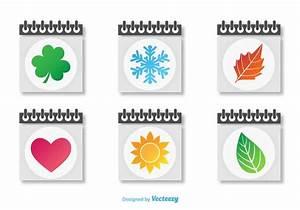 Daily Monthly Calendar Seasonal Calendars Icon Vectors Download Free Vectors