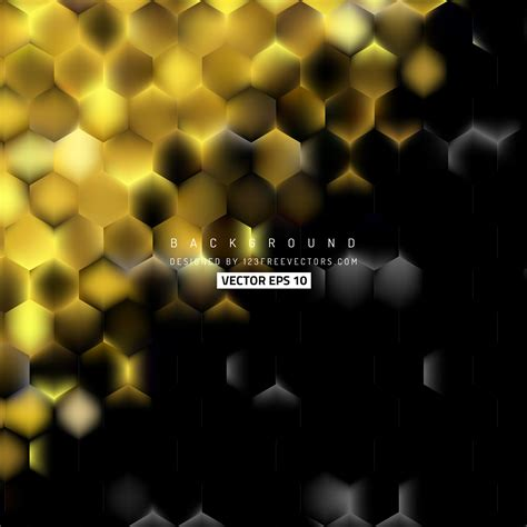 abstract black gold hexagon background template
