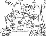 Coloring Garden Daisy Night Printable Flower Drawing Beginners Stuck Drawings Easy Journey Upsy Pinky Ponk Beginner Tree Cool Woodland Magic sketch template