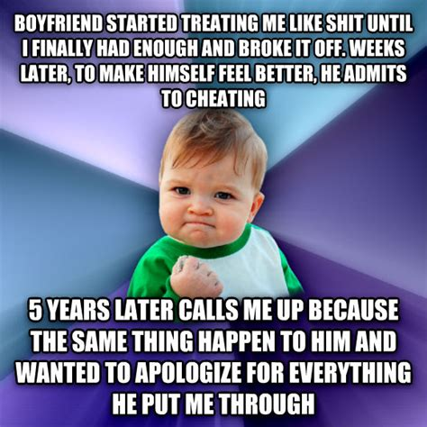 Boyfriend Cheating Meme - livememe com success kid