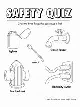 Safety Fire Printable Worksheets Coloring Sheets Activity Pages Quiz Printables Colouring Activities Prevention Kindergarten Week Firesafety Freeprintable Books Fun Quizes sketch template