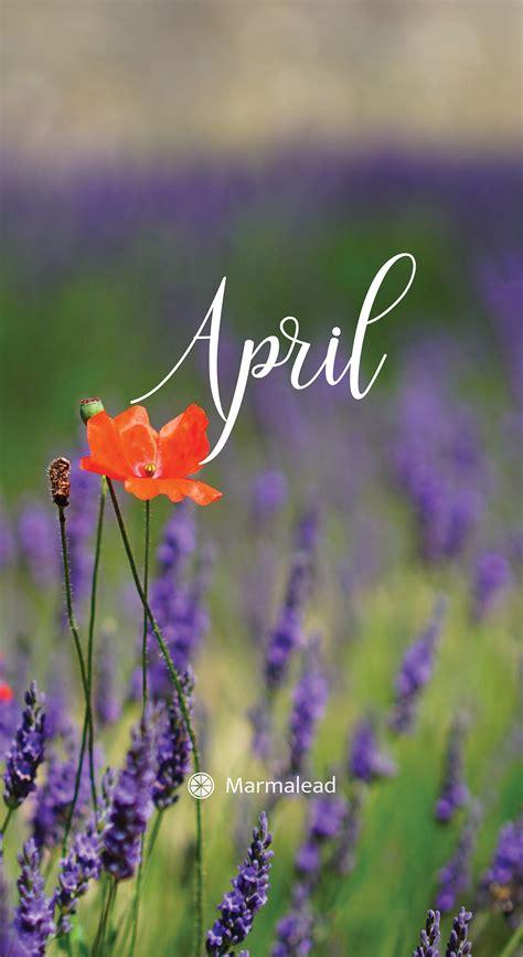 april   desktop calendarwallpaper  marmalead
