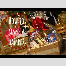 How To Make A Christmas Hamper Youtube