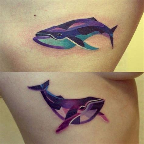 whales tattoo  sasha unisex watercolor tattoos
