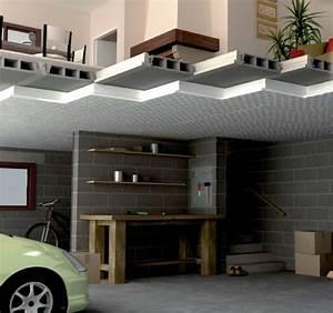 Isoler Plafond Sous Sol : isolation de plafond par pose de panneaux ~ Nature-et-papiers.com Idées de Décoration