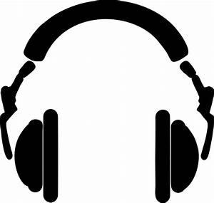 Clipart - Headphones Silhouette