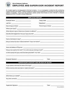 best photos of employee incident report form examples With hr incident report template