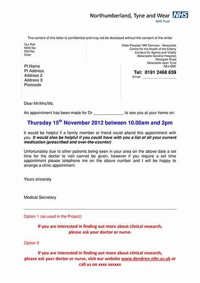 Appointment Letter Template Patient Hospital Format Simple
