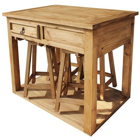 kitchen islands stools rustic pine collection kitchen island w stools mes90