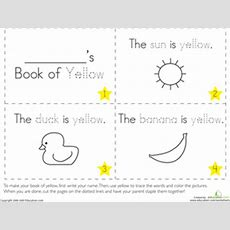 The Color Yellow  Worksheet Educationcom