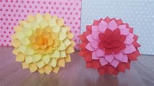 Einfache Papierblume Basteln : papierblume dahlia basteln diy paper dahlia youtube ~ Eleganceandgraceweddings.com Haus und Dekorationen