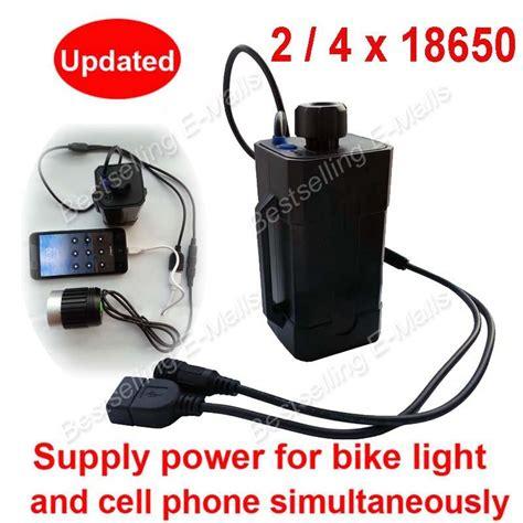 bike light battery bag new waterproof 18650 battery box case for bike light