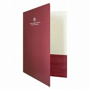 custom printed letter size continuous pocket presentation With letter size pocket folders