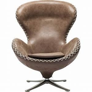 Fauteuil Pivotant Design : fauteuil pivotant vintage marron lounge bonanza kare design ~ Teatrodelosmanantiales.com Idées de Décoration